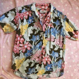 Vintage floral button up